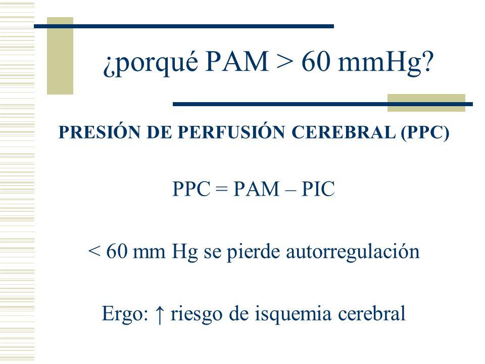 PRESIÓN DE PERFUSIÓN CEREBRAL (PPC)