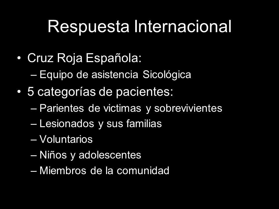 Respuesta Internacional