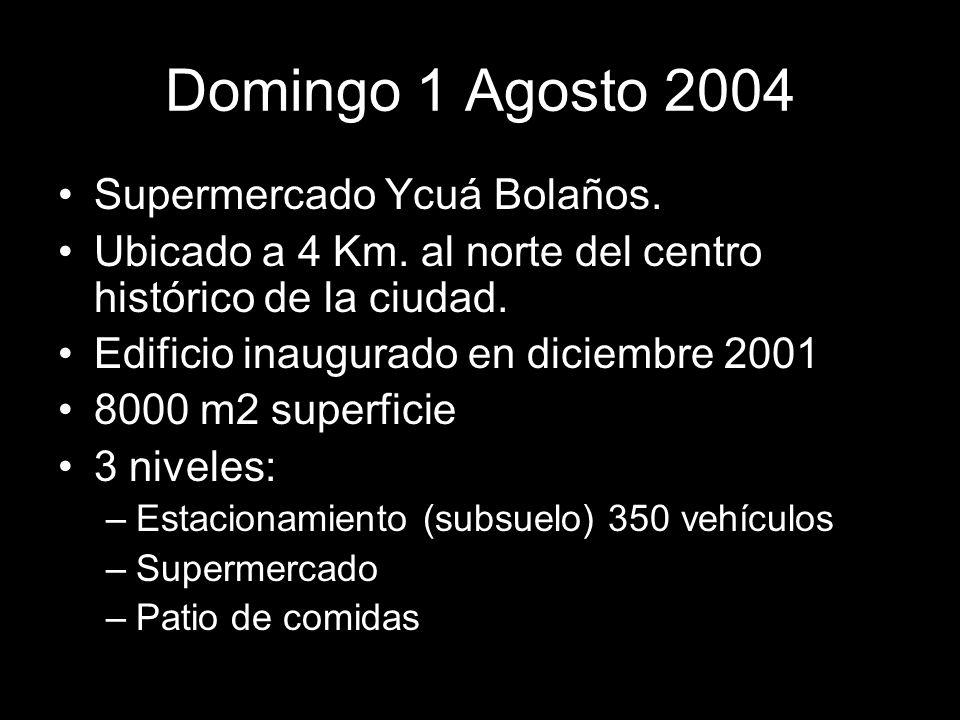 Domingo 1 Agosto 2004 Supermercado Ycuá Bolaños.