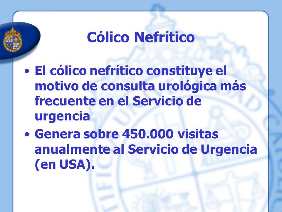 Cólico Nefrítico El cólico nefrítico constituye el motivo de consulta urológica más frecuente en el Servicio de urgencia.