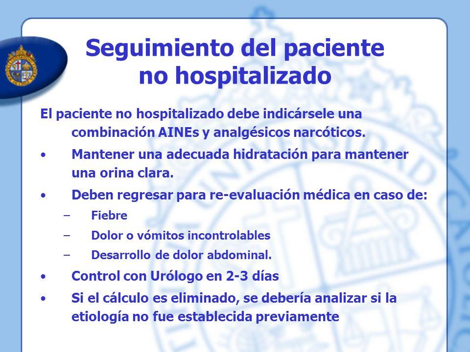 Seguimiento del paciente no hospitalizado