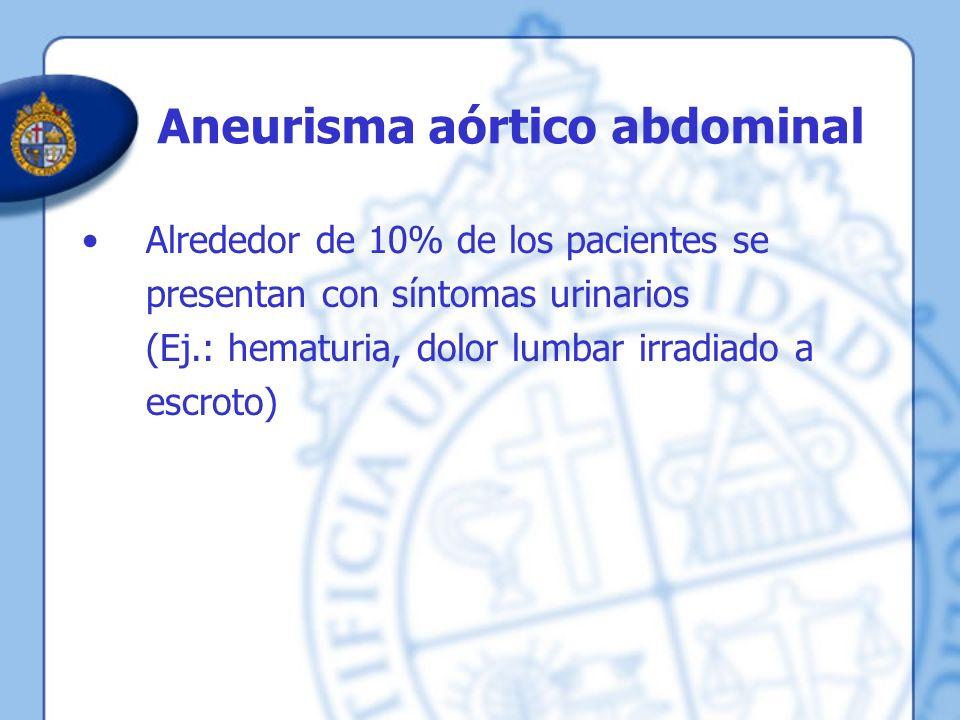 Aneurisma aórtico abdominal
