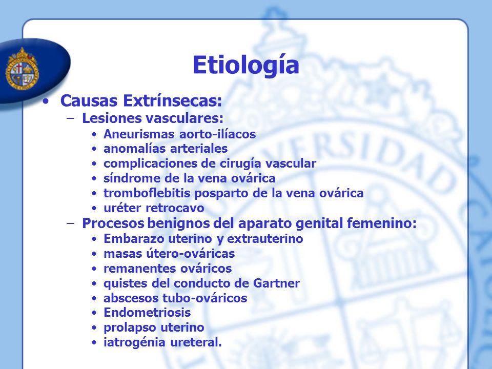 Etiología Causas Extrínsecas: Lesiones vasculares: