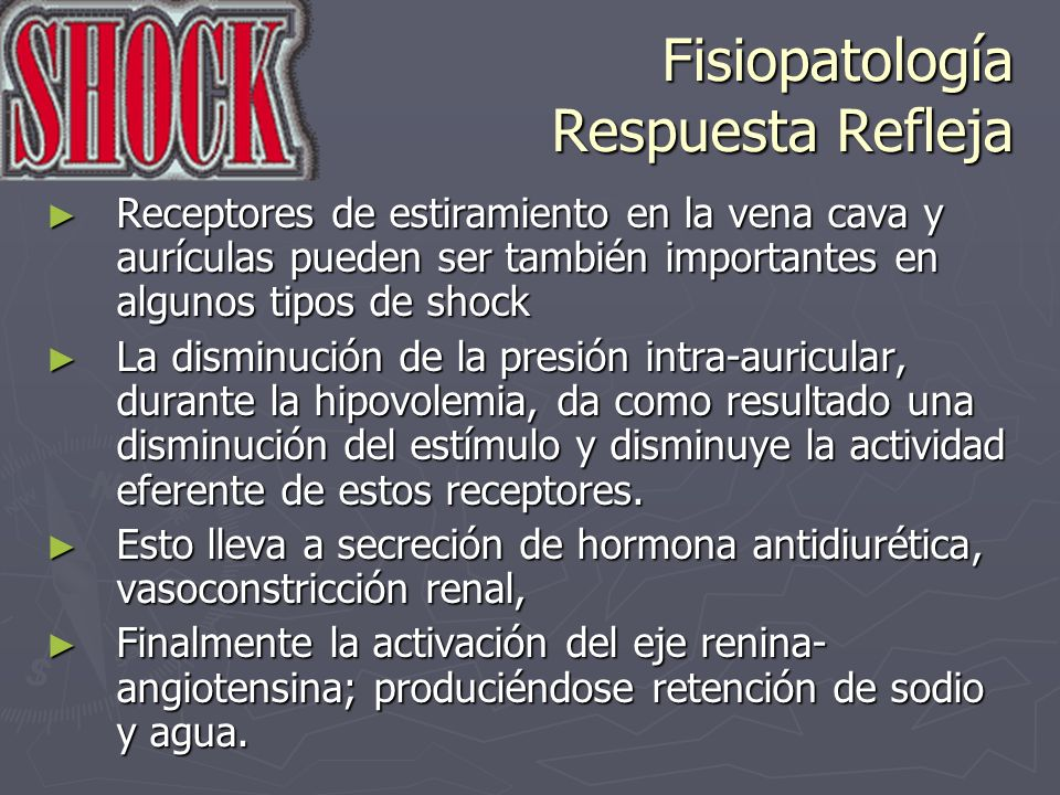 Fisiopatología Respuesta Refleja