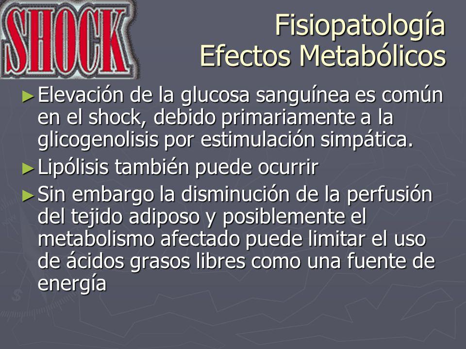 Fisiopatología Efectos Metabólicos