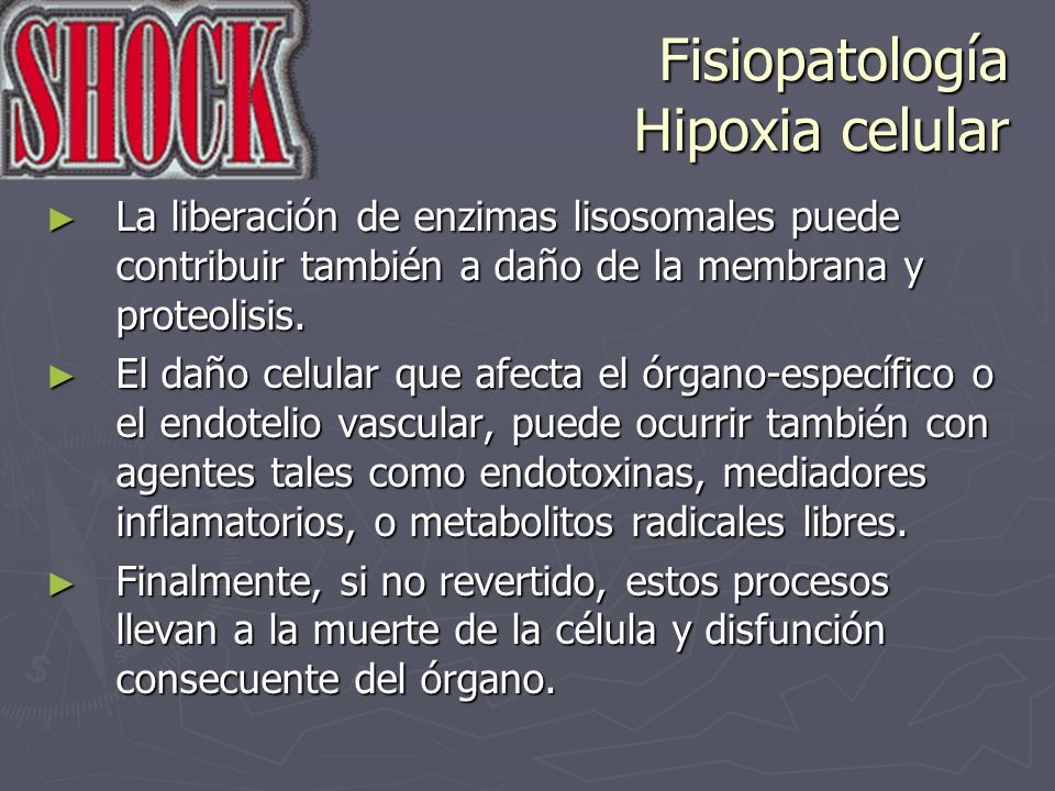 Fisiopatología Hipoxia celular