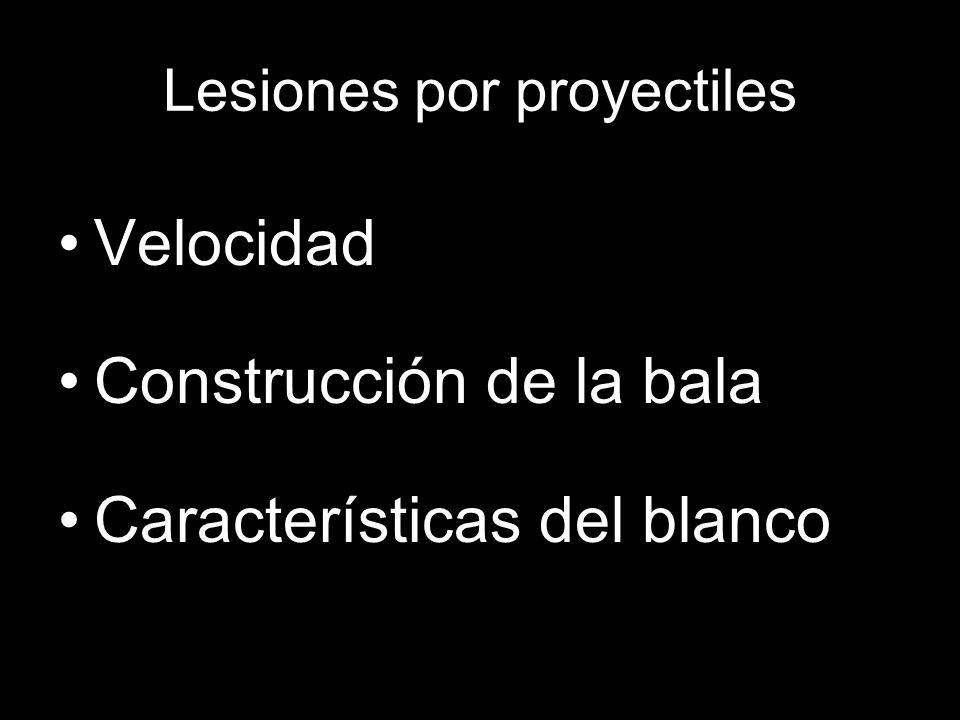 Lesiones por proyectiles