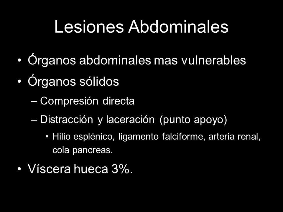 Lesiones Abdominales Órganos abdominales mas vulnerables
