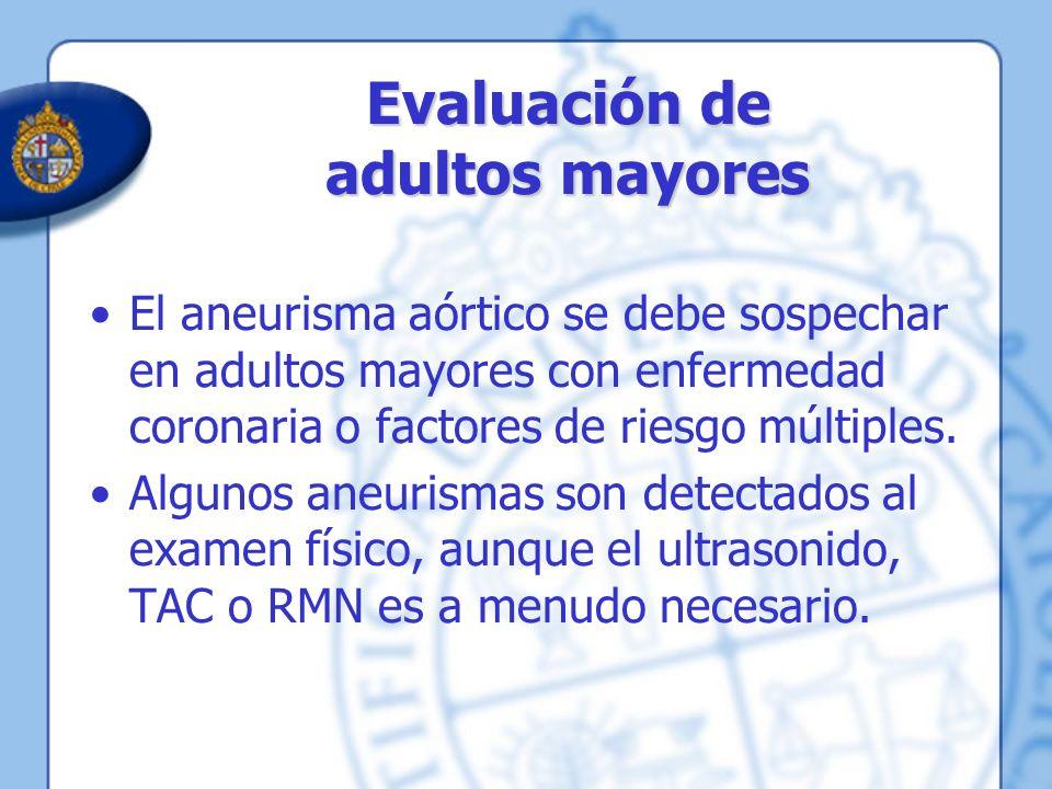 Evaluación de adultos mayores