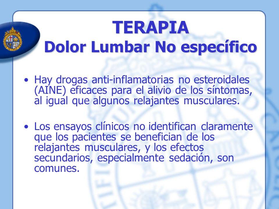 TERAPIA Dolor Lumbar No específico