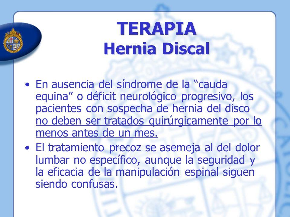 TERAPIA Hernia Discal