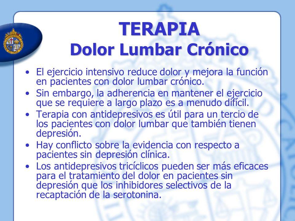 TERAPIA Dolor Lumbar Crónico