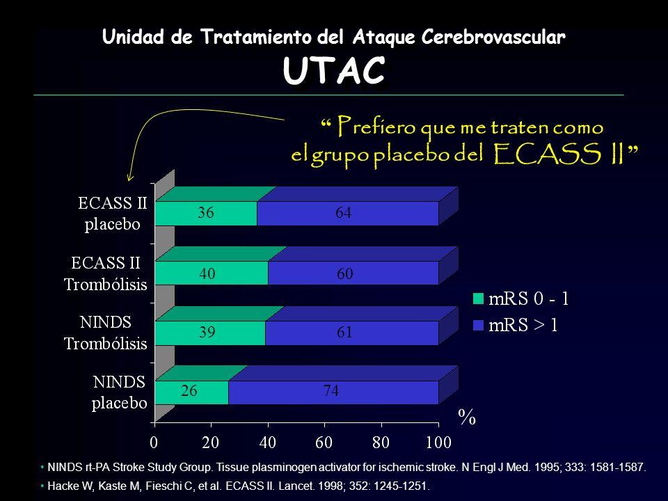 UTAC Prefiero que me traten como el grupo placebo del ECASS II %