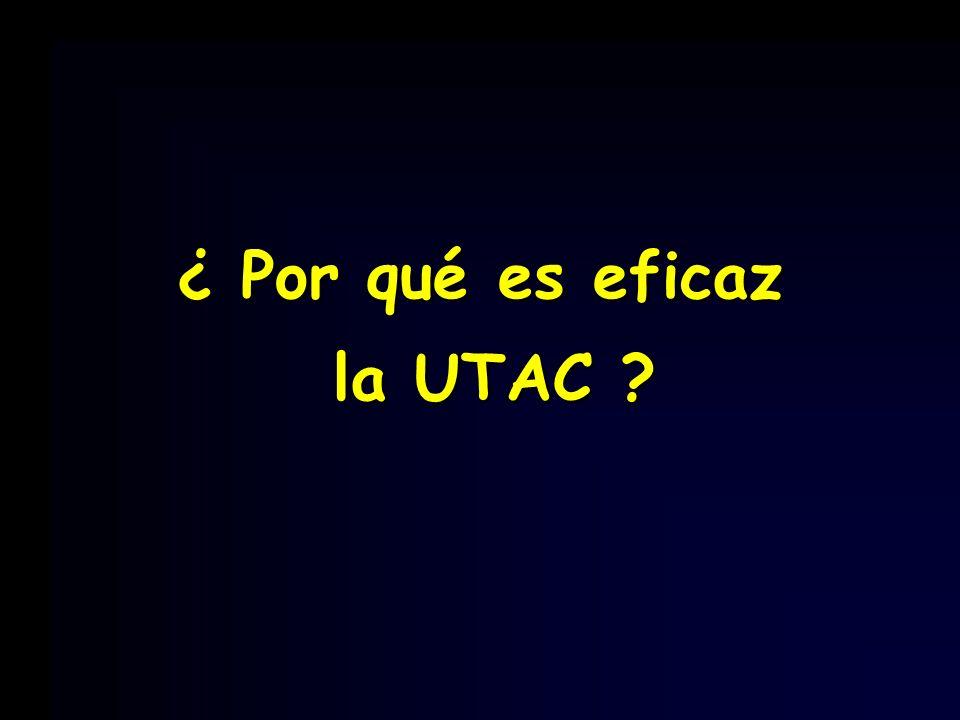 ¿ Por qué es eficaz la UTAC