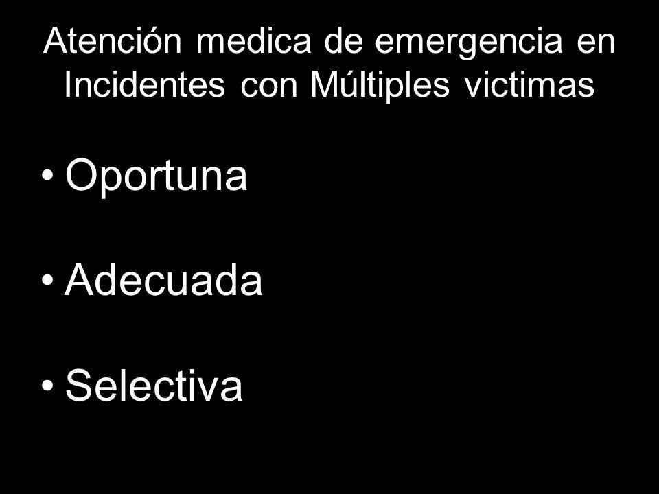 Atención medica de emergencia en Incidentes con Múltiples victimas