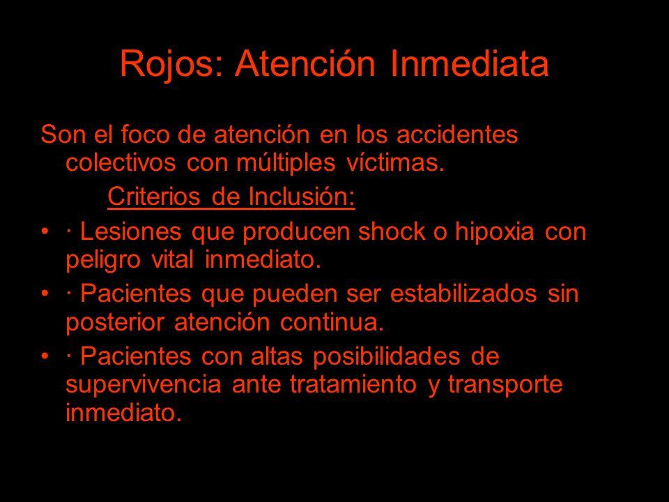 Rojos: Atención Inmediata