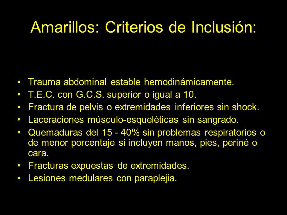 Amarillos: Criterios de Inclusión: