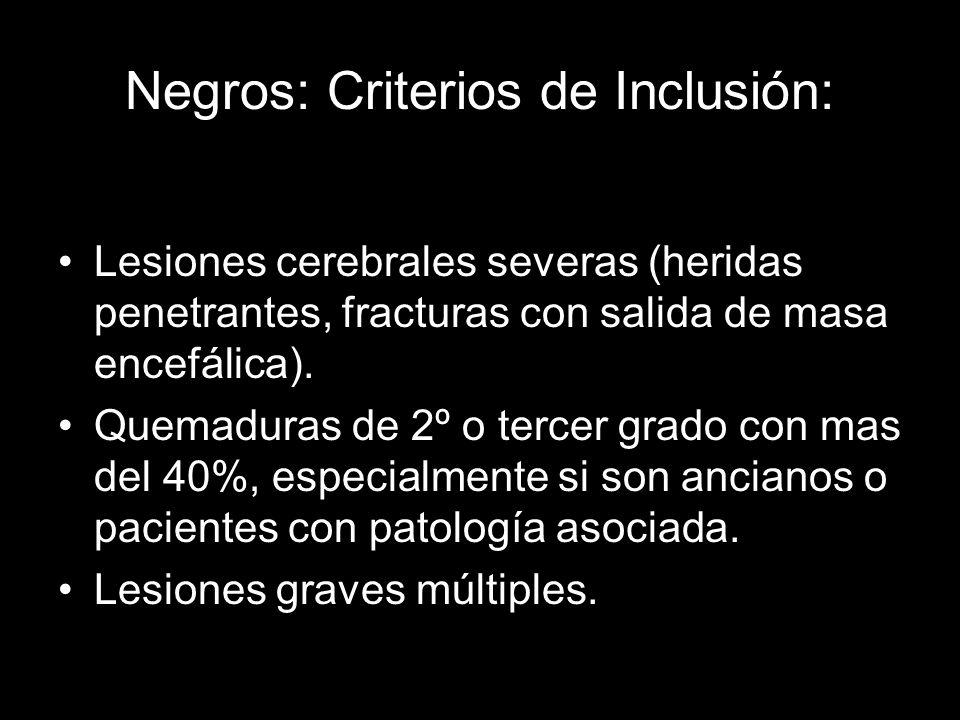 Negros: Criterios de Inclusión: