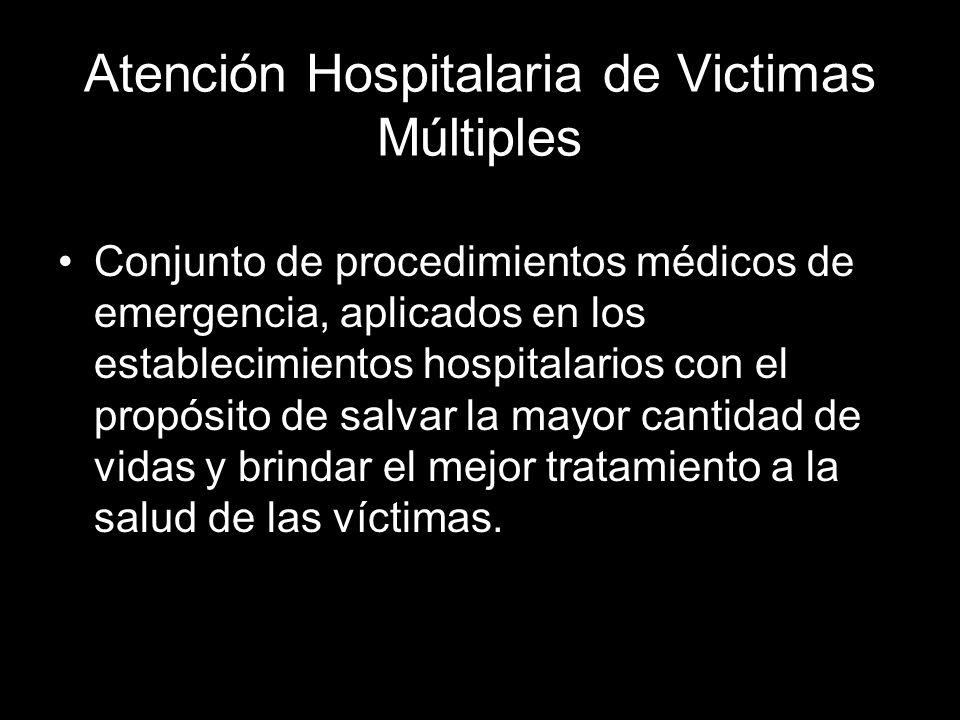 Atención Hospitalaria de Victimas Múltiples