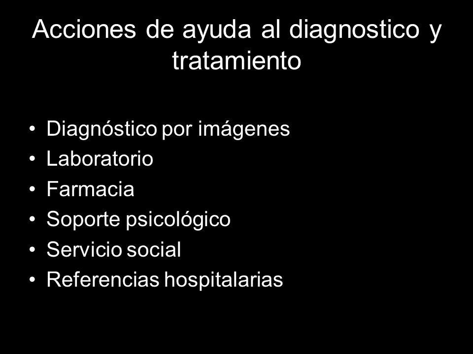 Acciones de ayuda al diagnostico y tratamiento