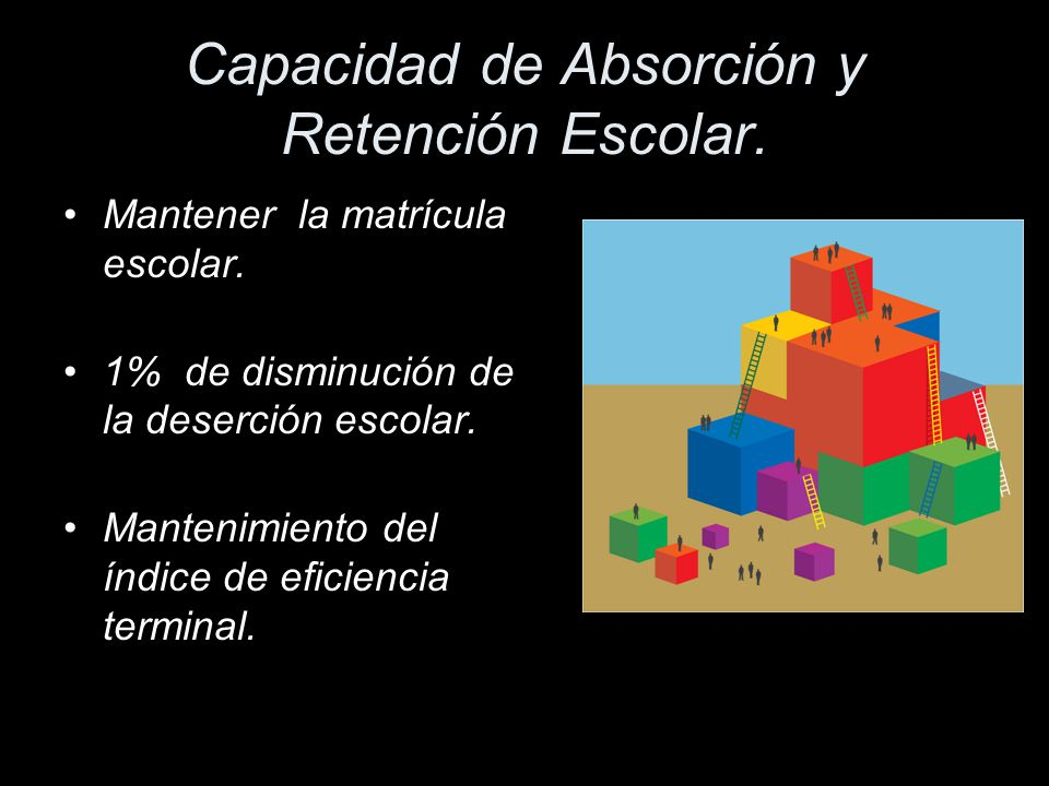 Capacidad de Absorción y Retención Escolar.