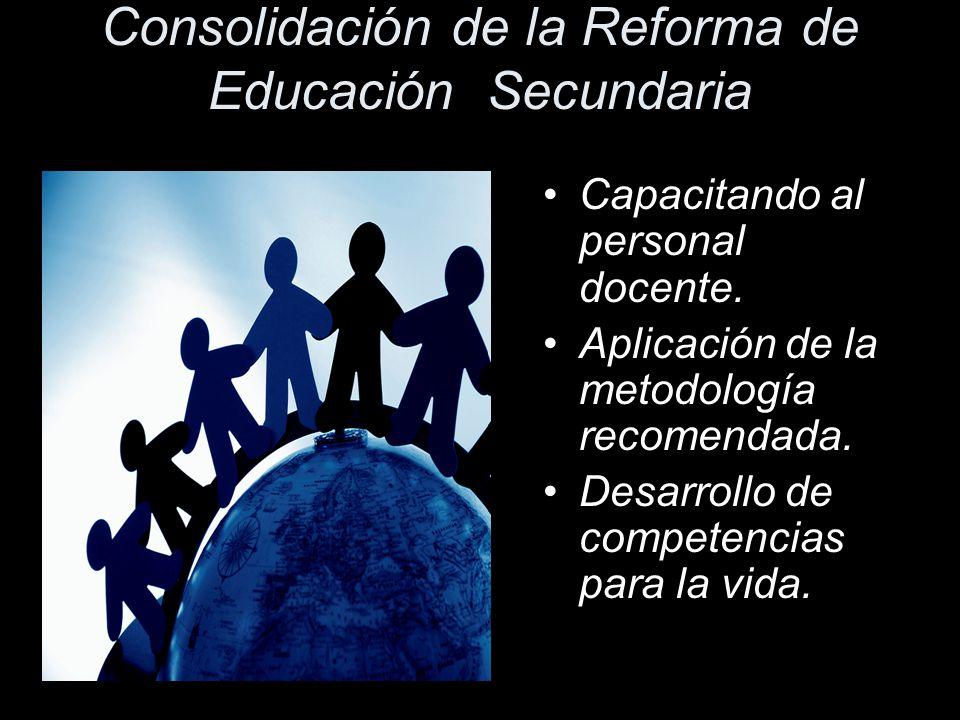 Consolidación de la Reforma de Educación Secundaria