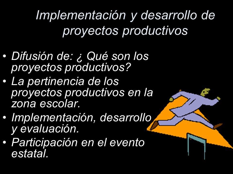 Implementación y desarrollo de proyectos productivos