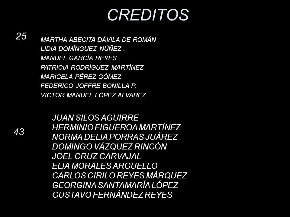 CREDITOS 25 43 JUAN SILOS AGUIRRE HERMINIO FIGUEROA MARTÍNEZ