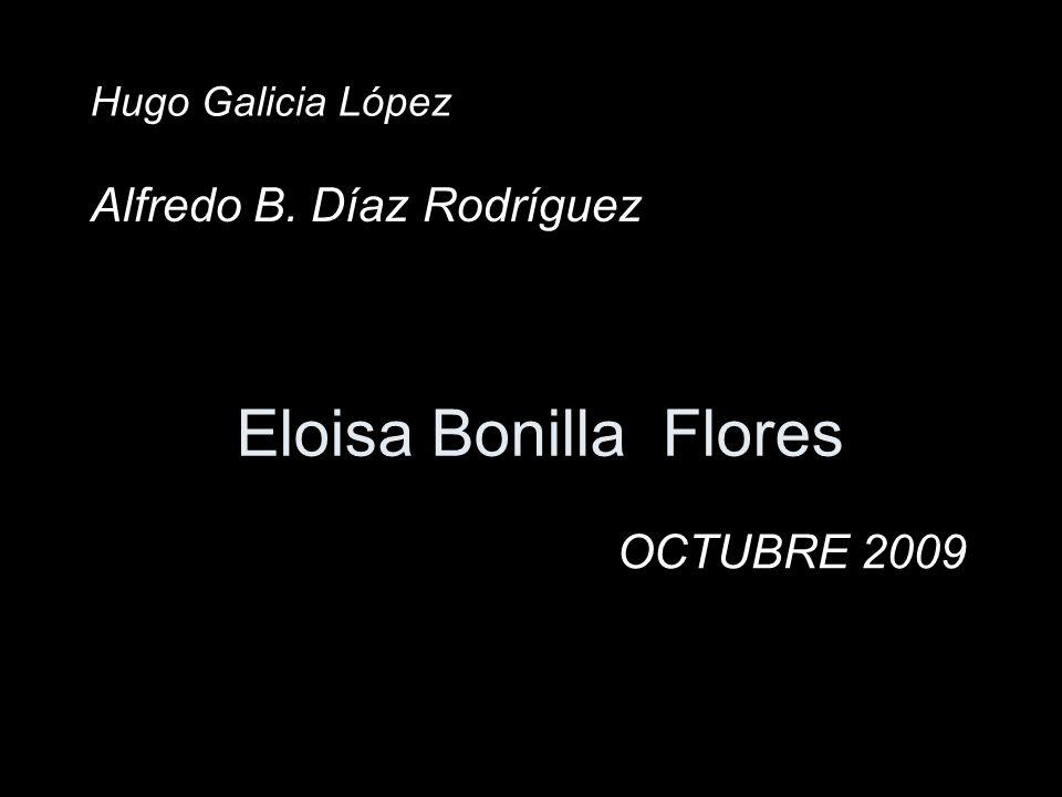 Eloisa Bonilla Flores Alfredo B. Díaz Rodríguez OCTUBRE 2009