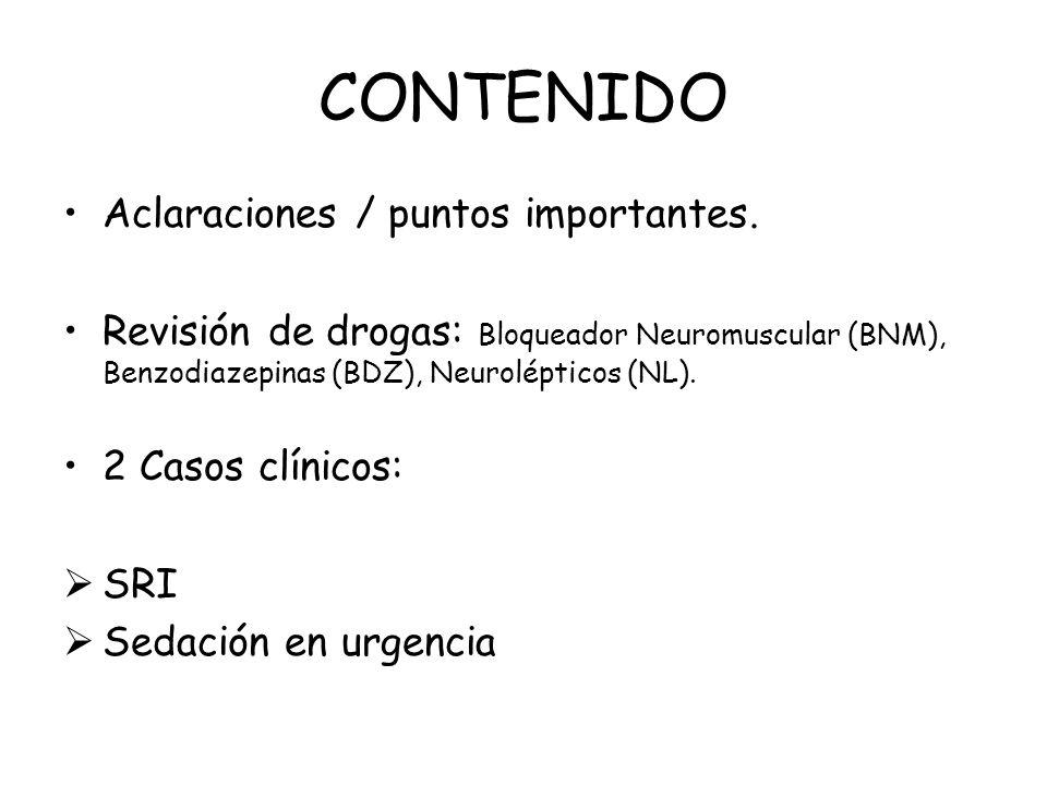 CONTENIDO Aclaraciones / puntos importantes.