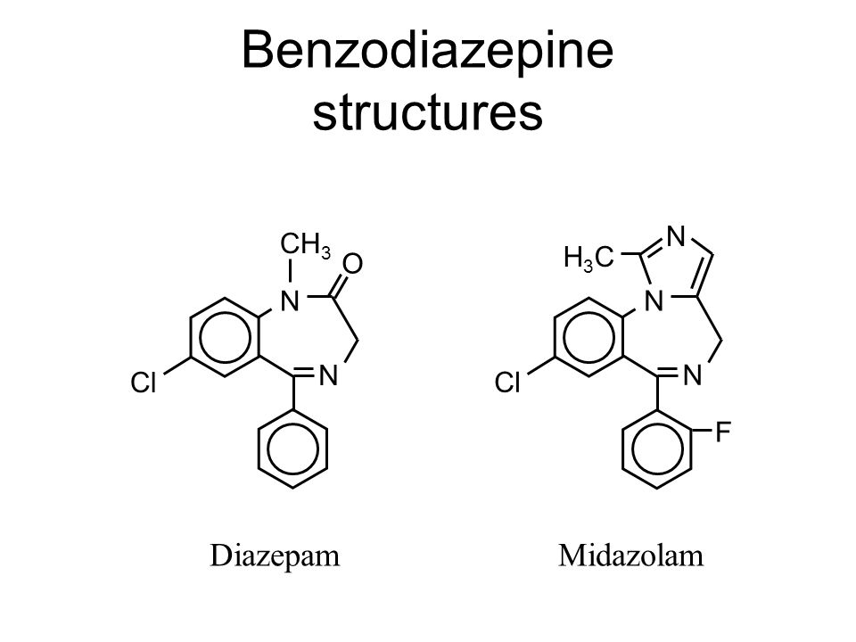 Benzodiazepine structures