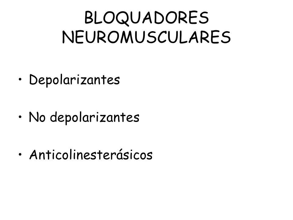 BLOQUADORES NEUROMUSCULARES