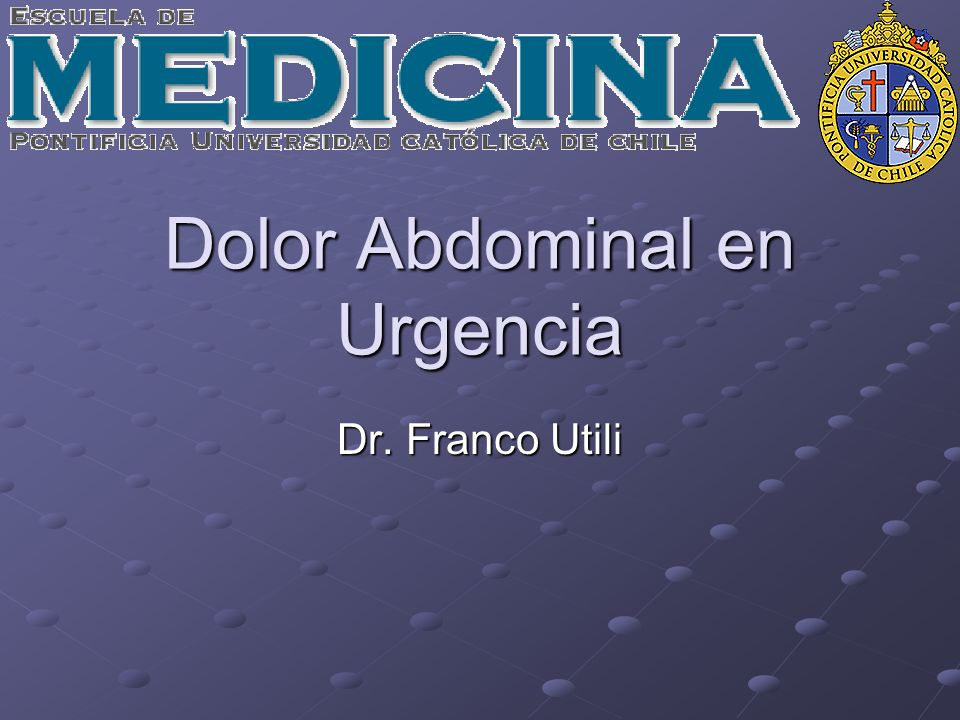 Dolor Abdominal en Urgencia