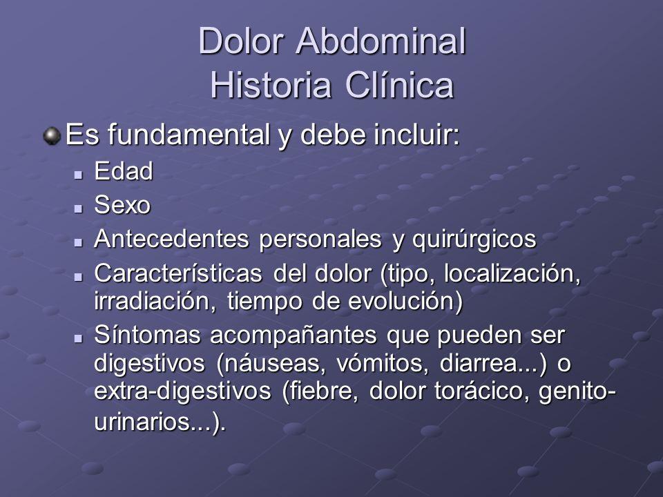 Dolor Abdominal Historia Clínica