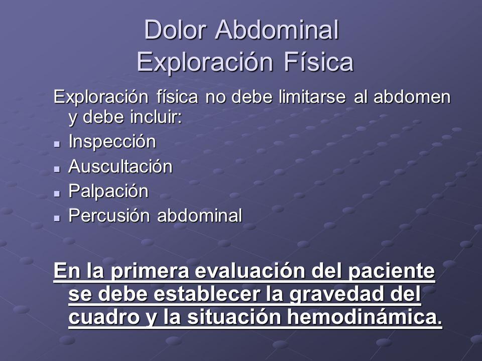Dolor Abdominal Exploración Física