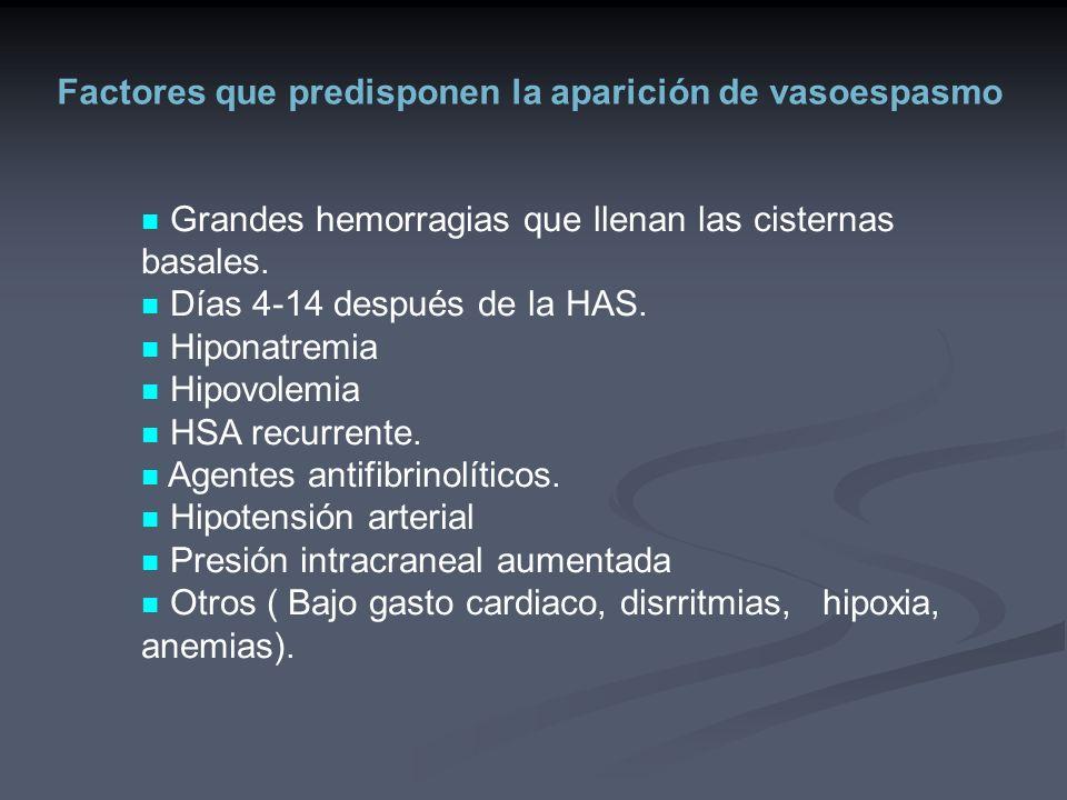 Factores que predisponen la aparición de vasoespasmo