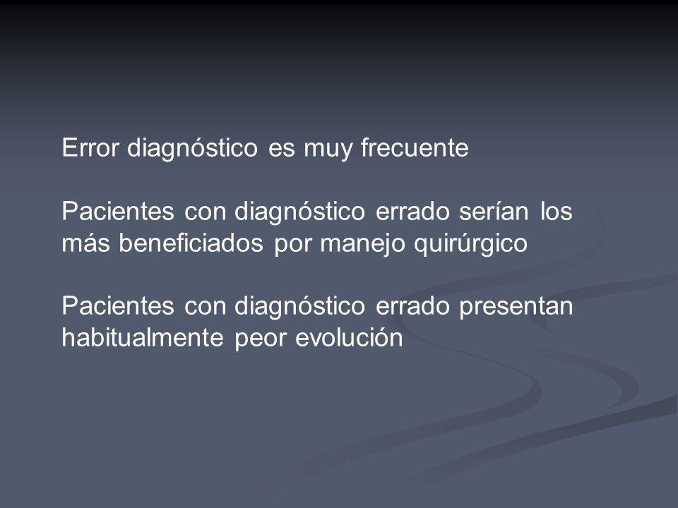 Error diagnóstico es muy frecuente