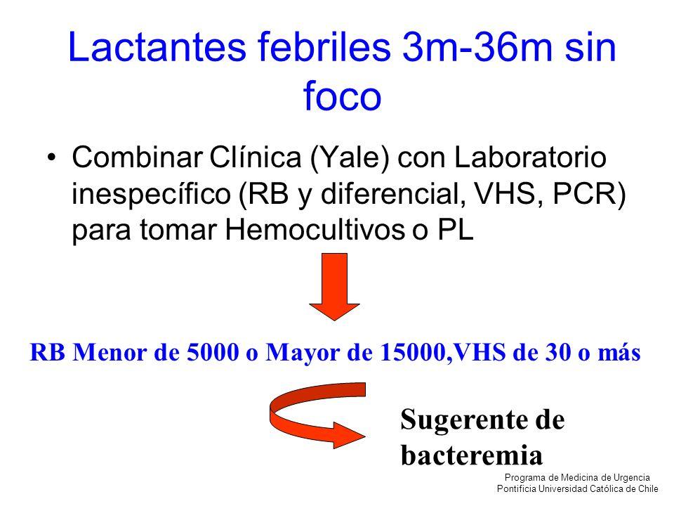 Lactantes febriles 3m-36m sin foco
