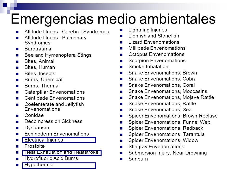 Emergencias medio ambientales