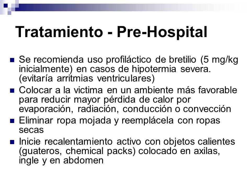 Tratamiento - Pre-Hospital