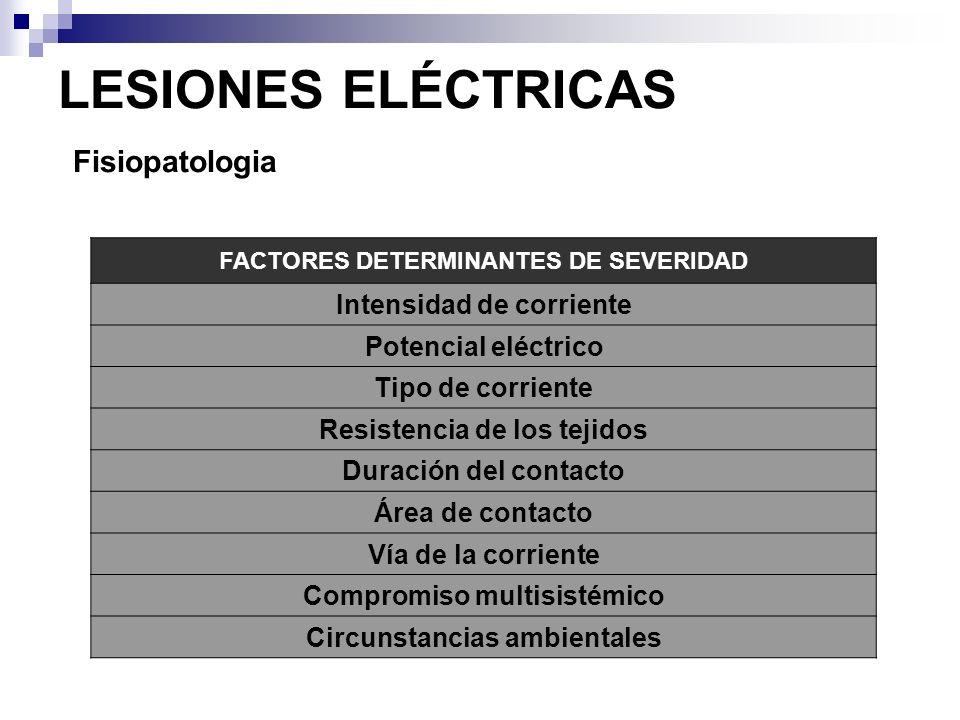 LESIONES ELÉCTRICAS Fisiopatologia