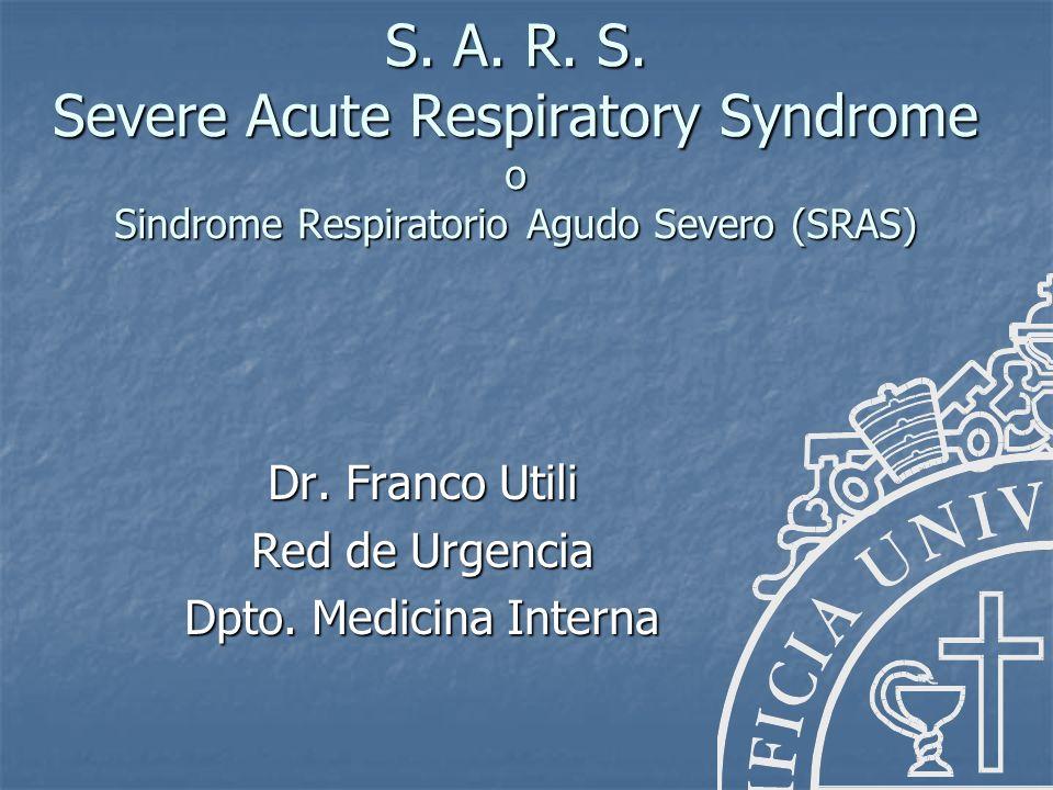 Dr. Franco Utili Red de Urgencia Dpto. Medicina Interna