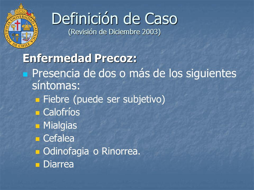 Definición de Caso (Revisión de Diciembre 2003)