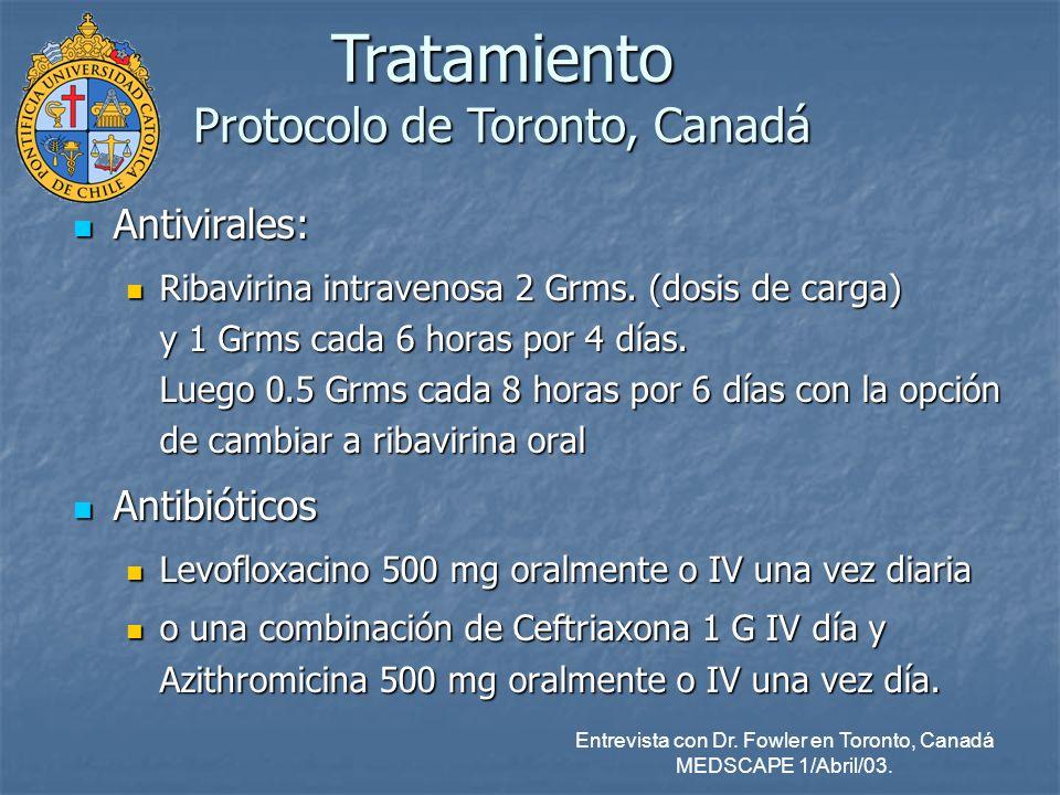 Tratamiento Protocolo de Toronto, Canadá
