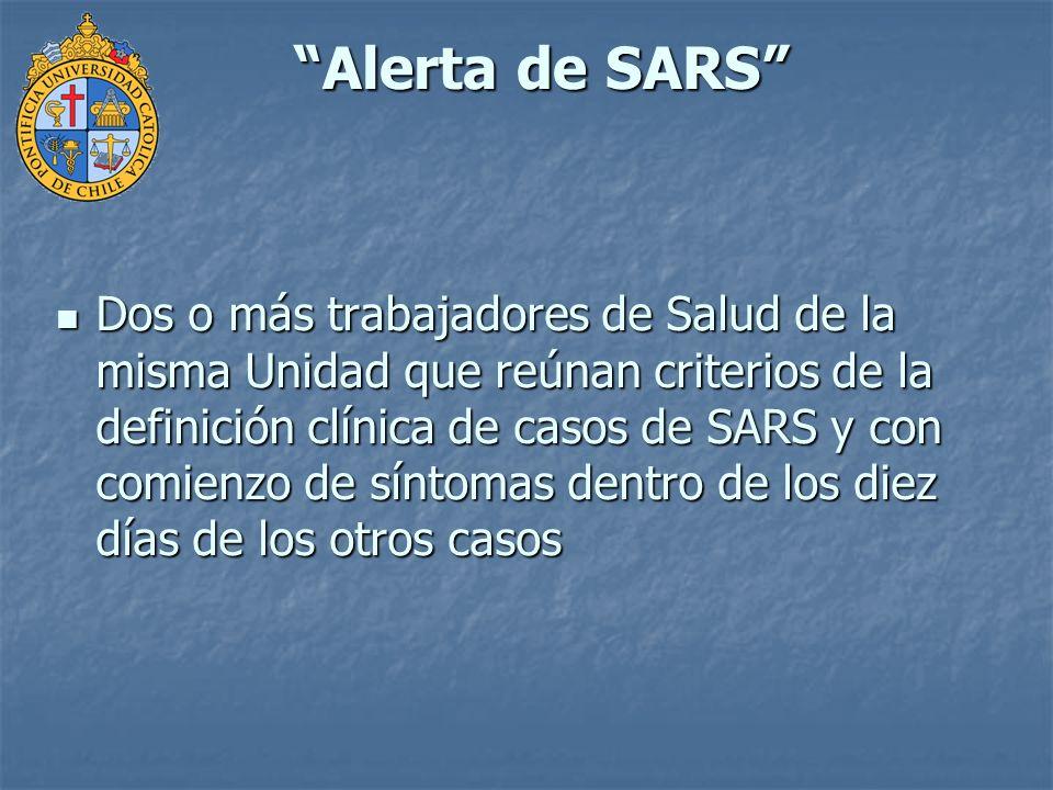 Alerta de SARS