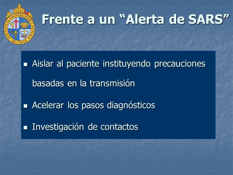 Frente a un Alerta de SARS
