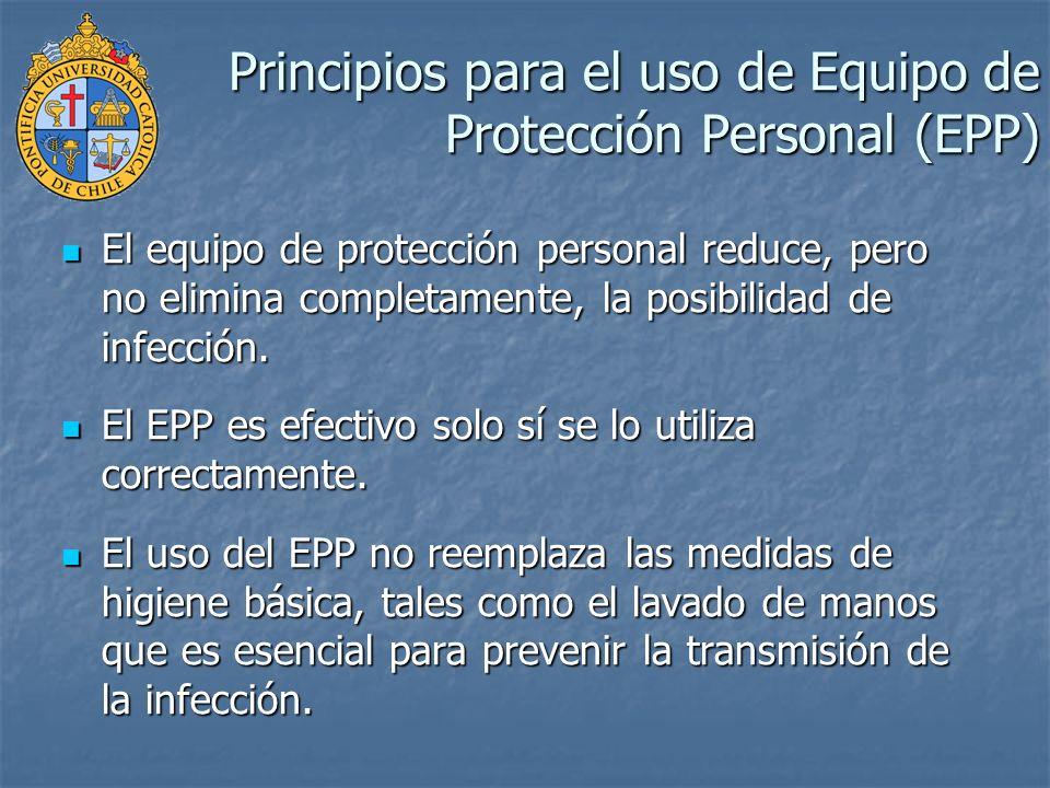 Principios para el uso de Equipo de Protección Personal (EPP)