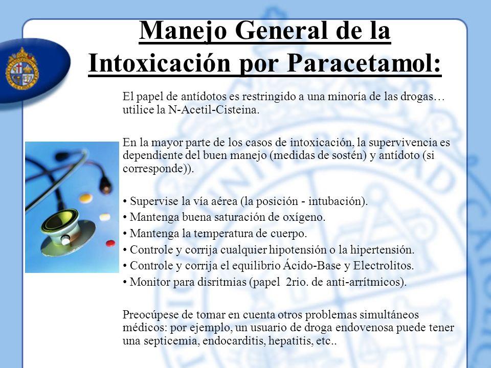 Manejo General de la Intoxicación por Paracetamol: