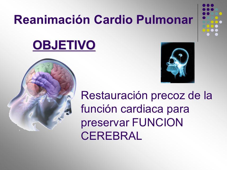 OBJETIVO Reanimación Cardio Pulmonar
