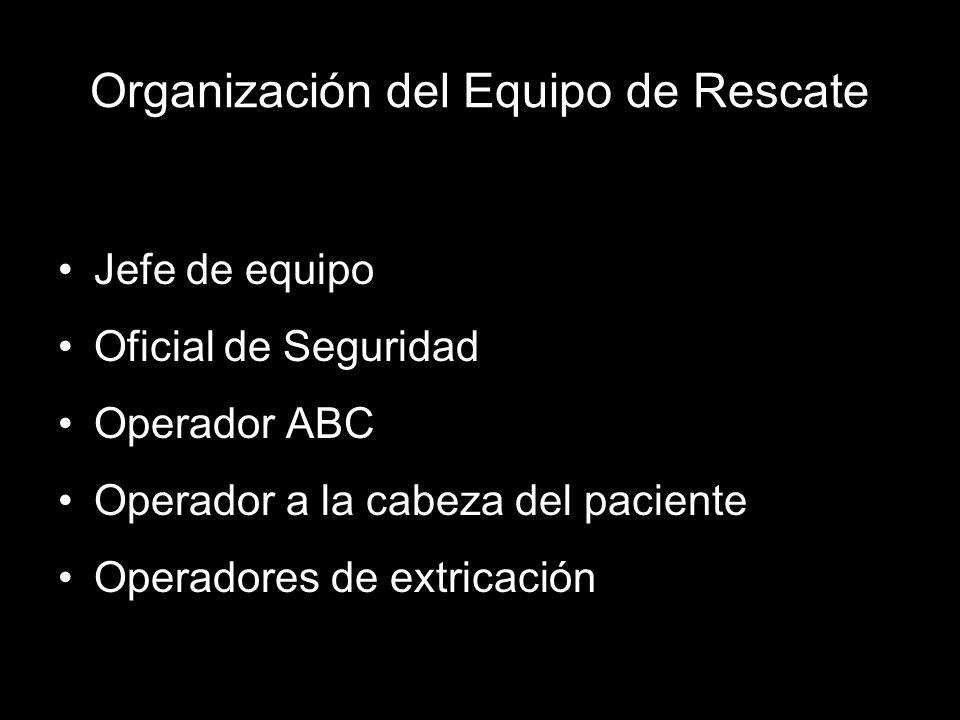 Organización del Equipo de Rescate